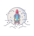 Startup space rocket vector image