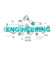 Technology engineering flat concept vector image vector image