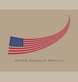 usa flag modern style united states america vector image