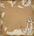 Vintage map with anchor vector image vector image