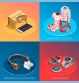 wearable technology isometric concept vector image vector image