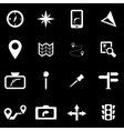 white navigation icon set vector image vector image