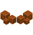 wooden boxes in different sizes vector image vector image