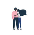 young romantic african american couple vector image