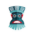 zulu mask with traditional ornaments ancient vector image vector image