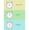 Breakfast Lunch and Dinner vector image