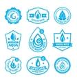 Water label vector image
