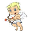 Little cupid flying vector image