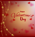 love valentines day card with hearts on blurred vector image
