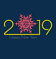 2019 happy new year with creative design for your vector image vector image