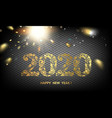 2020 new year dark background calendar label with vector image vector image
