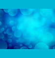 abstract blue circular bokeh background vector image