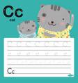 alphabet c tracing worksheet for preschool
