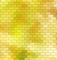 Autumn themed background with brick grid vector image vector image