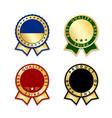 award ribbon best set vector image vector image