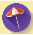 Beach umbrella top view icon Flat design vector image vector image