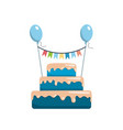 big cake happy birthday vector image vector image