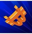 Bitcoin flying symbol vector image