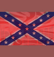 blood soaked confederate flag vector image vector image