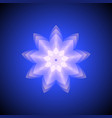 blue abstract geometry snowflake vector image