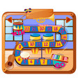 boardgame design with musical instruments in room vector image vector image