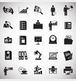 business icons set on white background for graphic vector image
