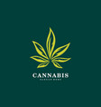cannabis marijuana leaf logo vector image