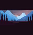 cartoon mountain landscape in flat style design vector image vector image