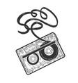 cassette tape sketch vector image
