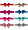 color bows isolated vector image vector image