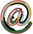 Colorful Grunge arobase symbol vector image