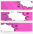 Comic book pop art style header collection vector image