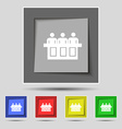 Conference icon sign on original five colored vector image vector image