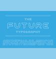 designer futuristic font - minimal design vector image