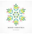 elegant snowflake poster winter icon merry vector image vector image