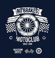 emblem motorcycle club in retro style vector image vector image