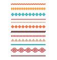 ethnic geometric borders vector image vector image