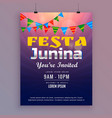 festa junina greeting card invitation design vector image vector image