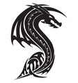 flying dragon tattoo vintage engraving vector image vector image