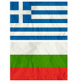 Greece and Bulgaria flags vector image