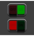 Grey switches vector image vector image