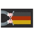 Hand made flag of German vector image