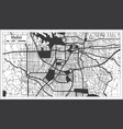 hefei china city map in black and white color in vector image vector image