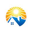home bright sun logo vector image vector image