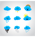icons with different facial expressions vector image vector image