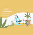 laboratory medicines from cannabis plant web vector image