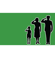 Libya soldier family salute vector image vector image
