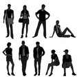 man male woman female fashion shopping model a vector image