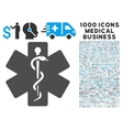 Medical Emblem Icon with 1000 Medical Business vector image vector image