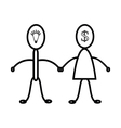 Men and women are relationship Symbol vector image